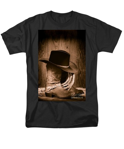 Cowboy Hat and Boots T-Shirt by Olivier Le Queinec