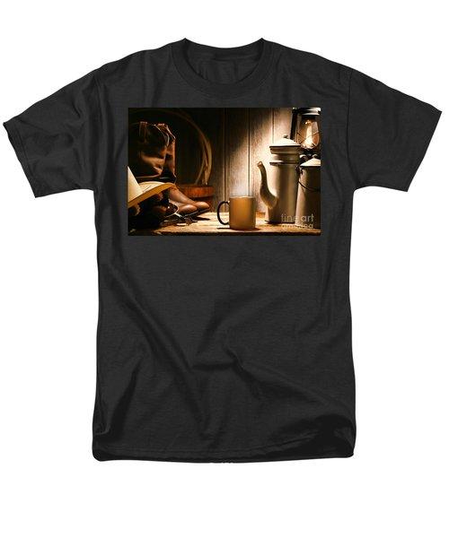 Cowboy's Coffee Break T-Shirt by Olivier Le Queinec