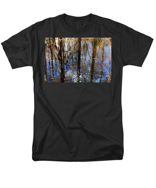 Cypress Reflection Nature Abstract T-Shirt by Carol Groenen