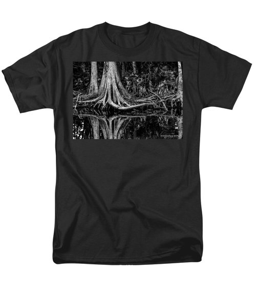 Cypress Roots - BW T-Shirt by Christopher Holmes