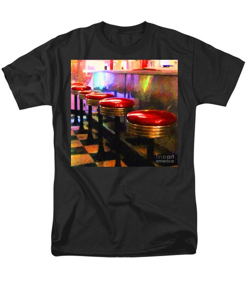 Diner - v2 - square T-Shirt by Wingsdomain Art and Photography