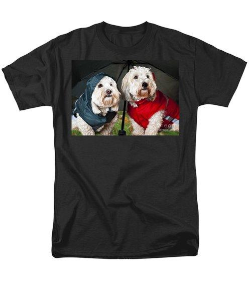Dogs under umbrella T-Shirt by Elena Elisseeva