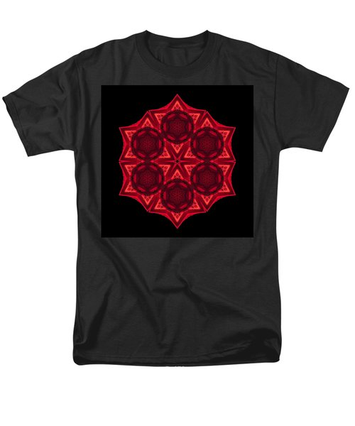 Dying Amaryllis III Flower Mandala T-Shirt by David J Bookbinder
