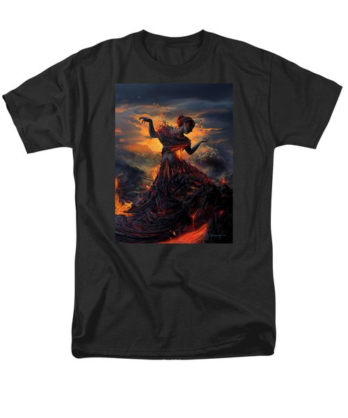 Elements - Fire Men's T-Shirt  (Regular Fit) by Cassiopeia Art