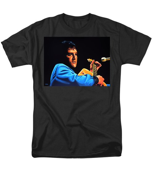 Elvis Presley 2 Painting Men's T-Shirt  (Regular Fit) by Paul Meijering