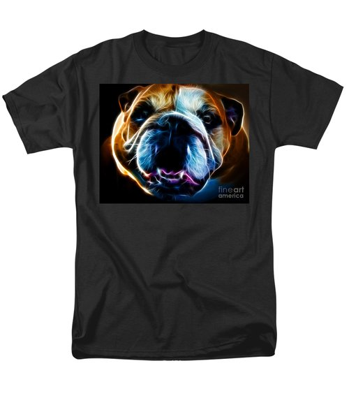 English Bulldog - Electric T-Shirt by Wingsdomain Art and Photography