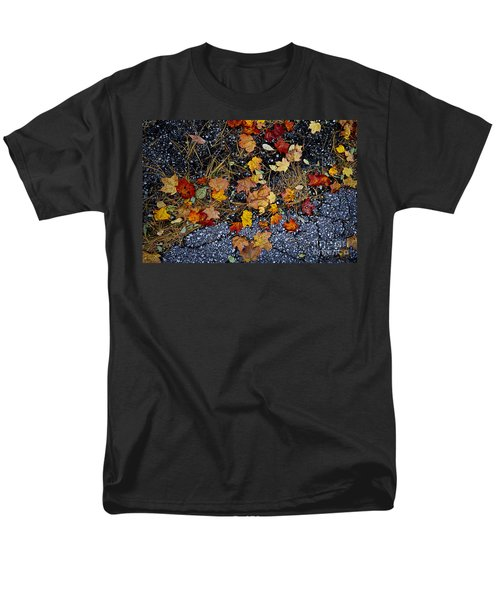Fall leaves on pavement T-Shirt by Elena Elisseeva