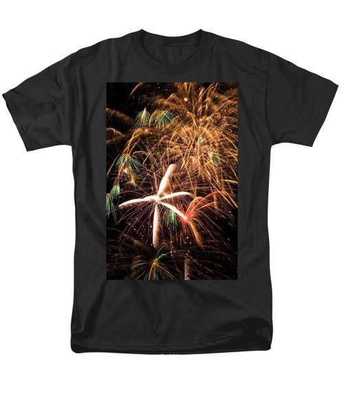 Fireworks exploding everywhere T-Shirt by Garry Gay