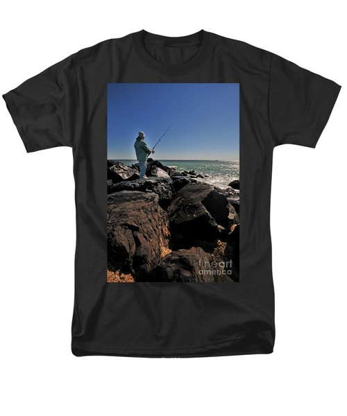 Fishing off the Jetty T-Shirt by Paul Ward