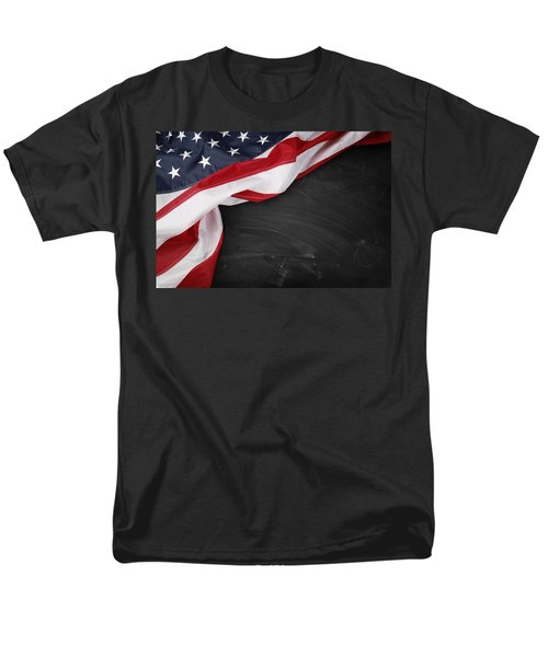 Flag on blackboard T-Shirt by Les Cunliffe