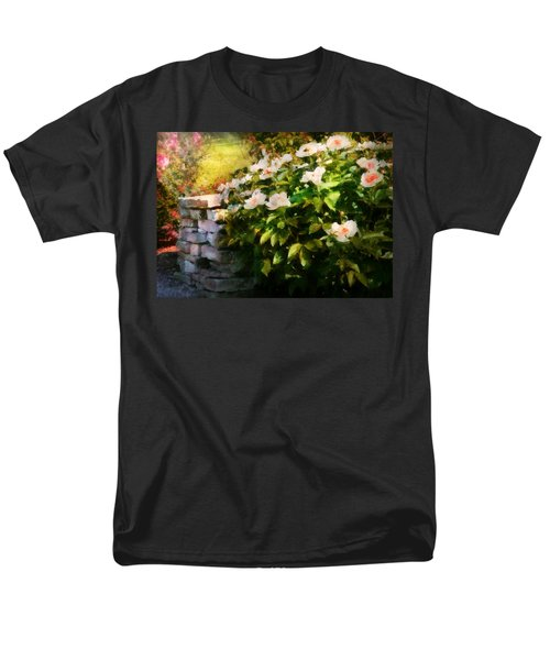 Flower - Rose - By a wall  T-Shirt by Mike Savad