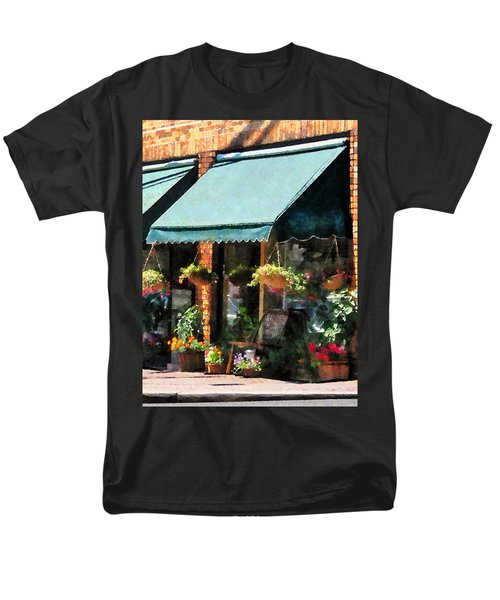 Flower Shop With Green Awnings T-Shirt by Susan Savad