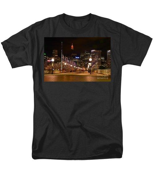 Foot Bridge By Night Men's T-Shirt  (Regular Fit) by Kaye Menner