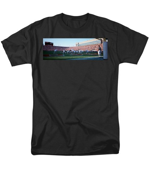 Football Game, Soldier Field, Chicago Men's T-Shirt  (Regular Fit) by Panoramic Images