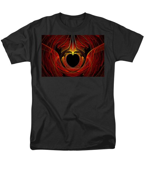 Fractal - Heart - Victorian love T-Shirt by Mike Savad