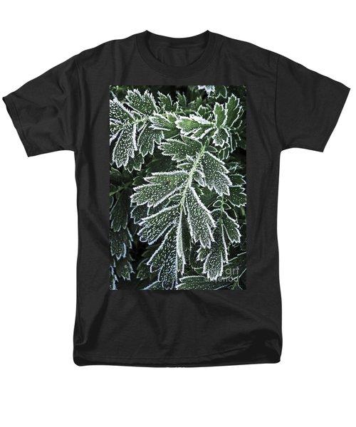 Frosty leaves macro T-Shirt by Elena Elisseeva