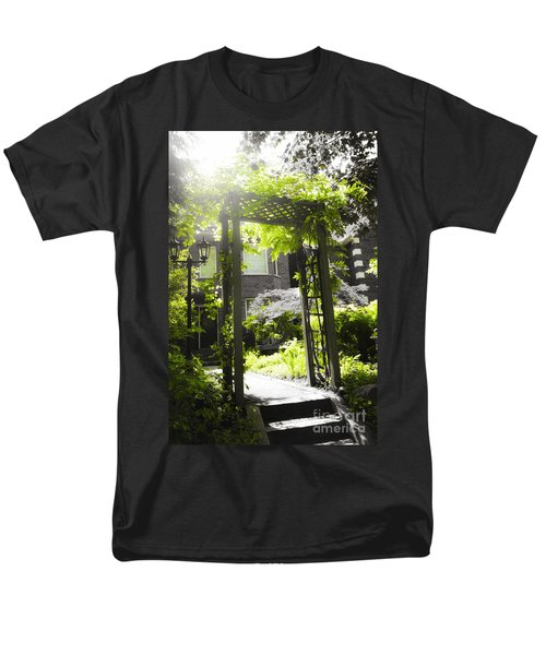 Garden arbor in sunlight T-Shirt by Elena Elisseeva