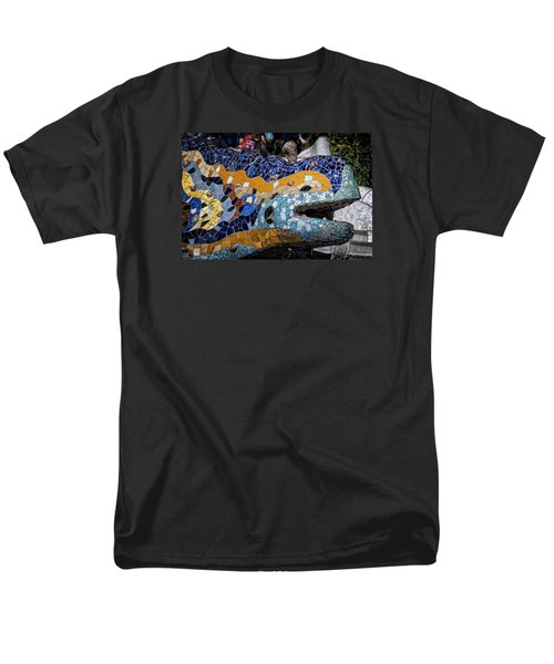 Gaudi Dragon Men's T-Shirt  (Regular Fit) by Joan Carroll