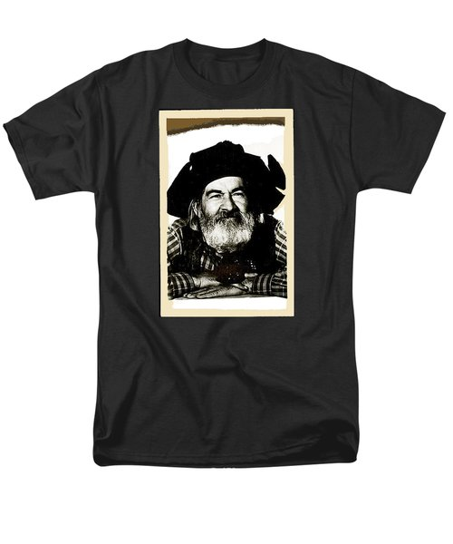 George Hayes Portrait #1 Card Men's T-Shirt  (Regular Fit) by David Lee Guss