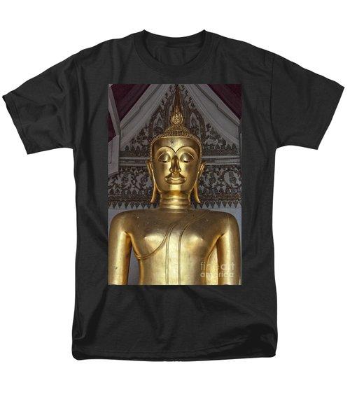 Golden Buddha Temple Statue T-Shirt by Antony McAulay
