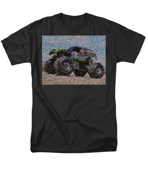 Grave Digger Bottle Cap Mosaic T-Shirt by Paul Van Scott