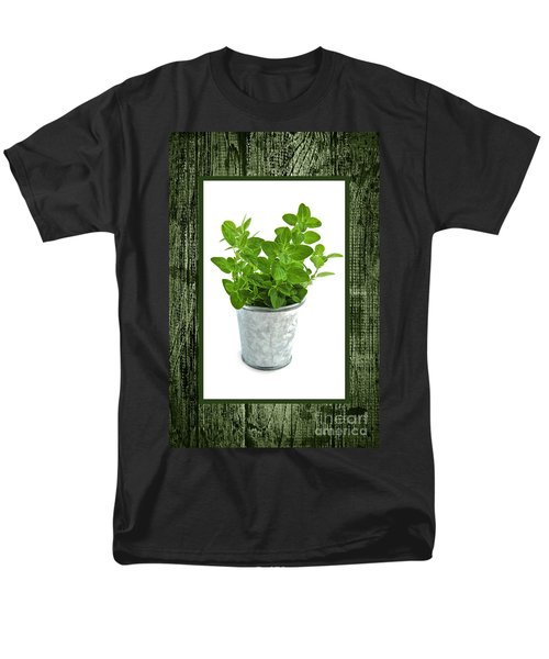 Green oregano herb in small pot T-Shirt by Elena Elisseeva