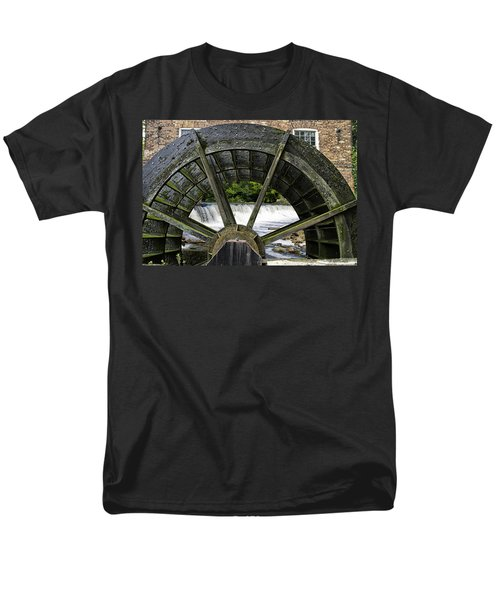 Grist Mill Wheel With Spillway T-Shirt by Thomas Woolworth