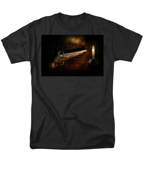 Gun - Pistol - Romance of pirateering T-Shirt by Mike Savad