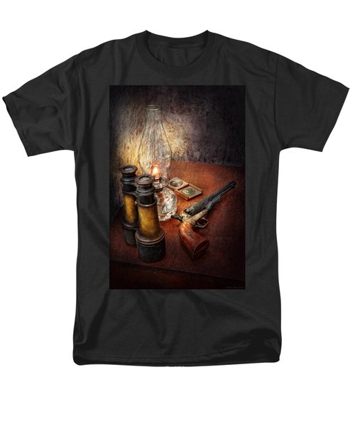 Gun - The adventures code  T-Shirt by Mike Savad