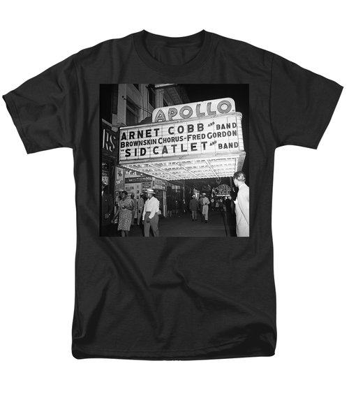 Harlem's Apollo Theater Men's T-Shirt  (Regular Fit) by Underwood Archives Gottlieb