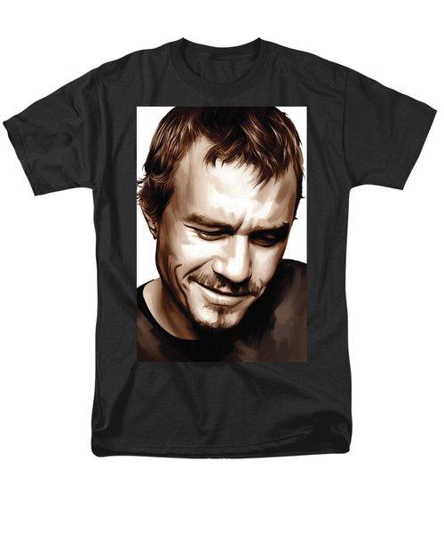 Heath Ledger Artwork Men's T-Shirt  (Regular Fit) by Sheraz A