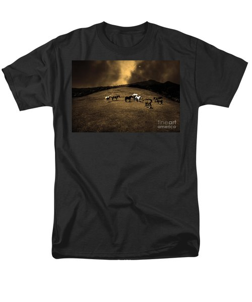 Horses of The Moon Mill Valley California 5D22673 sepia T-Shirt by Wingsdomain Art and Photography