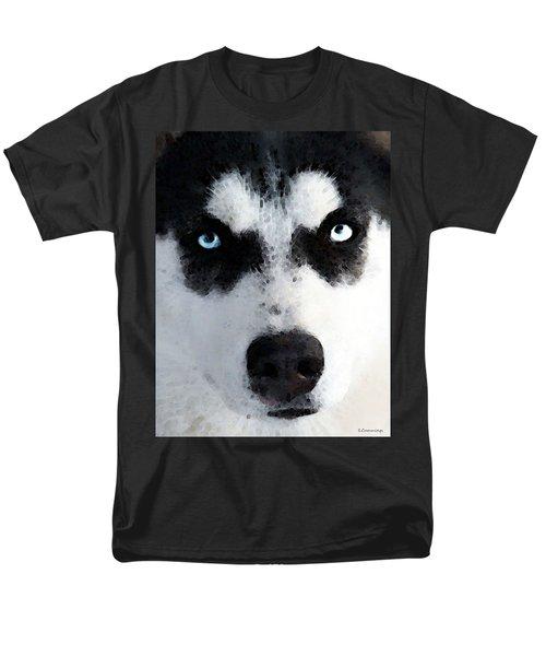Husky Dog Art - Bat Man T-Shirt by Sharon Cummings