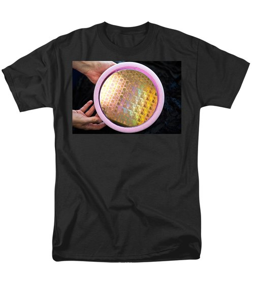 Men's T-Shirt  (Regular Fit) featuring the photograph Integrated Circuits On Silicon Wafer by Science Source