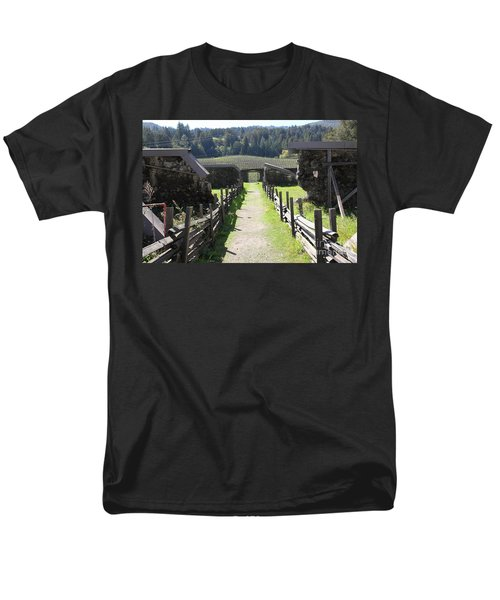 Jack London Ranch Winery Ruins 5D22180 T-Shirt by Wingsdomain Art and Photography