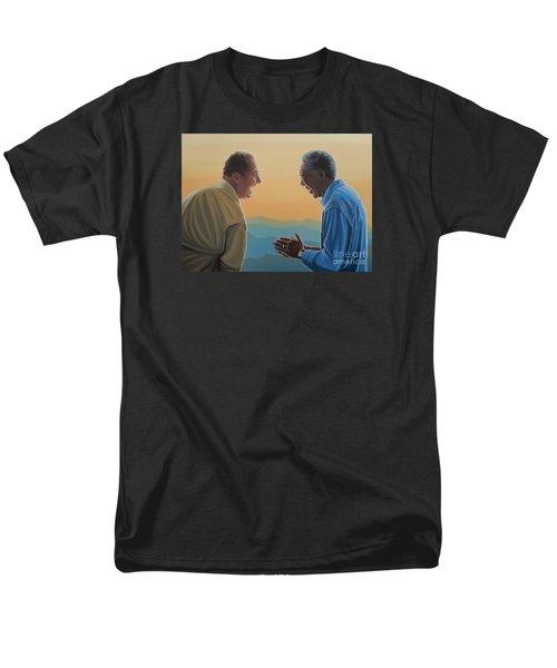 Jack Nicholson And Morgan Freeman Men's T-Shirt  (Regular Fit) by Paul Meijering