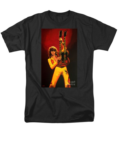 Jimmy Page Painting Men's T-Shirt  (Regular Fit) by Paul Meijering