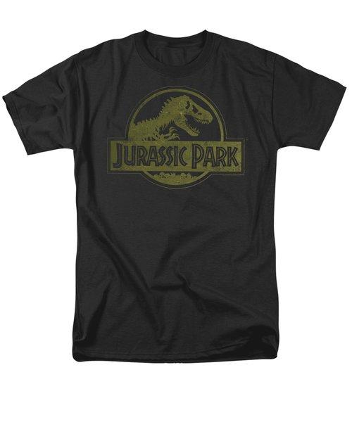 Jurassic Park - Distressed Logo Men's T-Shirt  (Regular Fit) by Brand A