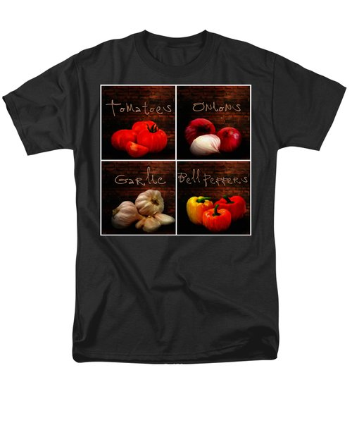 Kitchen Ingredients Collage II Men's T-Shirt  (Regular Fit) by Lourry Legarde