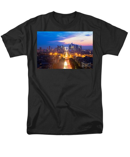 La Defense and Champs Elysees at sunset in Paris France T-Shirt by Michal Bednarek