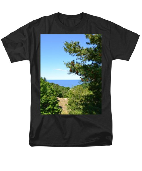 Lake Michigan from the Top of the Dune T-Shirt by Michelle Calkins