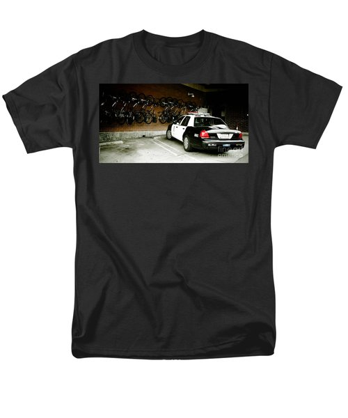 LAPD cruiser and police bikes T-Shirt by Nina Prommer