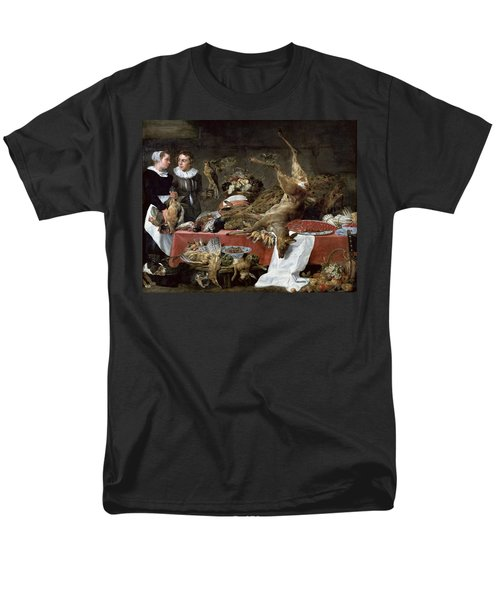Le Cellier Oil On Canvas Men's T-Shirt  (Regular Fit) by Frans Snyders or Snijders