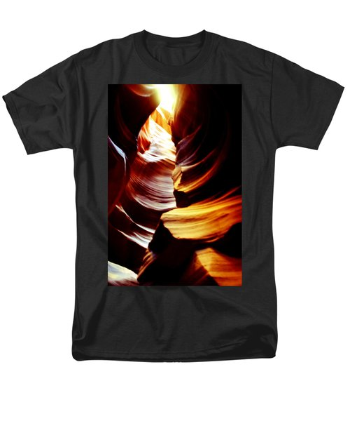 Light From Above - Canyon Abstract T-Shirt by Aidan Moran