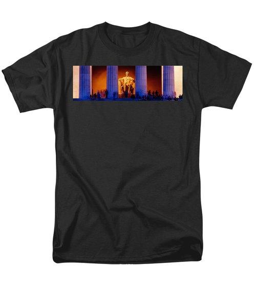Lincoln Memorial, Washington Dc Men's T-Shirt  (Regular Fit) by Panoramic Images