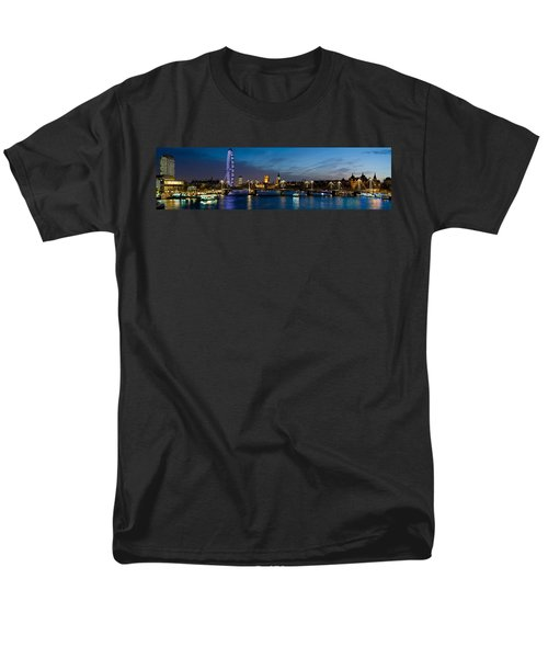 London Eye And Central London Skyline Men's T-Shirt  (Regular Fit) by Panoramic Images