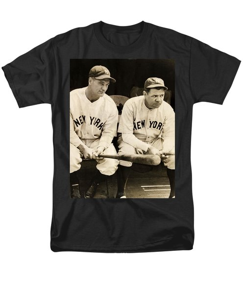 Lou Gehrig And Babe Ruth Men's T-Shirt  (Regular Fit) by Bill Cannon