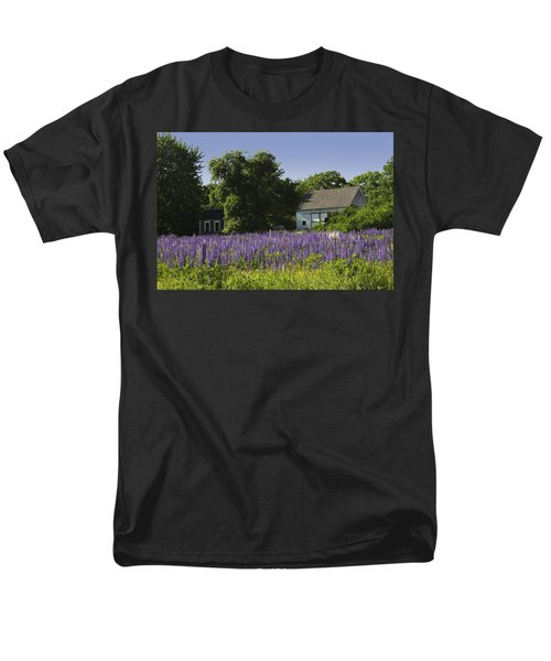 Lupine Flowers Near Round Pond Maine T-Shirt by Keith Webber Jr