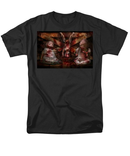 Macabre - Dolls - Having a friend for dinner T-Shirt by Mike Savad