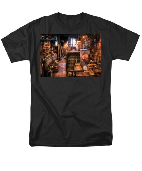 Machinist - Ed's Stock Room T-Shirt by Mike Savad